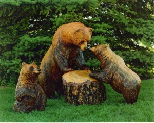 wooden-bears-carving